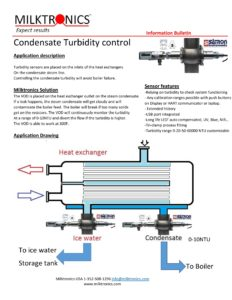 condensate return line turbidity