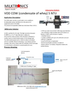 cow water turbidity condensate of whey